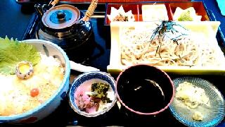 鯛茶漬けとお蕎麦のセット@つきじ植むら(八王子ランチ)